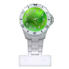 Green Wave Background Abstract Plastic Nurses Watch