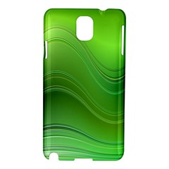 Green Wave Background Abstract Samsung Galaxy Note 3 N9005 Hardshell Case