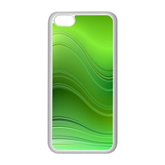 Green Wave Background Abstract Apple Iphone 5c Seamless Case (white)