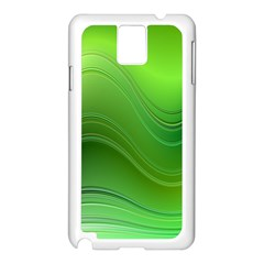 Green Wave Background Abstract Samsung Galaxy Note 3 N9005 Case (white)