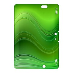 Green Wave Background Abstract Kindle Fire Hdx 8 9  Hardshell Case