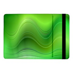 Green Wave Background Abstract Samsung Galaxy Tab Pro 10 1  Flip Case