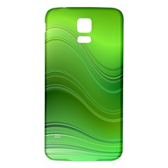 Green Wave Background Abstract Samsung Galaxy S5 Back Case (white)