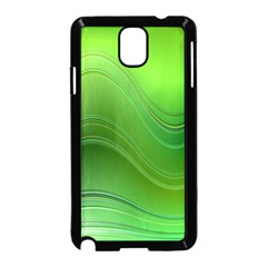 Green Wave Background Abstract Samsung Galaxy Note 3 Neo Hardshell Case (black)