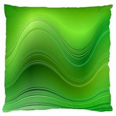 Green Wave Background Abstract Standard Flano Cushion Case (one Side)