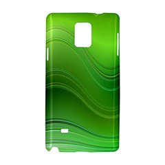 Green Wave Background Abstract Samsung Galaxy Note 4 Hardshell Case