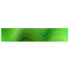 Green Wave Background Abstract Small Flano Scarf