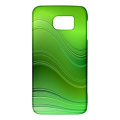 Green Wave Background Abstract Galaxy S6