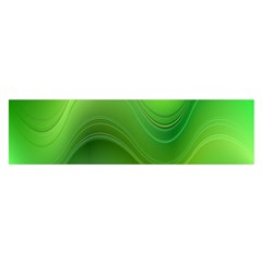 Green Wave Background Abstract Satin Scarf (oblong)