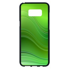 Green Wave Background Abstract Samsung Galaxy S8 Plus Black Seamless Case