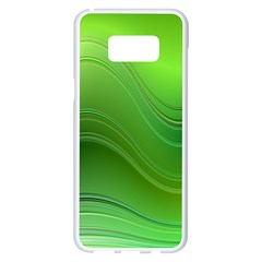 Green Wave Background Abstract Samsung Galaxy S8 Plus White Seamless Case