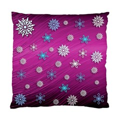 Snowflakes 3d Random Overlay Standard Cushion Case (one Side)