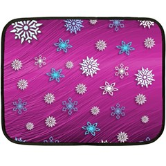 Snowflakes 3d Random Overlay Double Sided Fleece Blanket (mini)