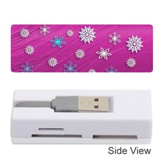 Snowflakes 3d Random Overlay Memory Card Reader (stick)