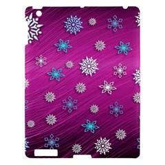 Snowflakes 3d Random Overlay Apple Ipad 3/4 Hardshell Case