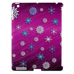 Snowflakes 3d Random Overlay Apple Ipad 3/4 Hardshell Case (compatible With Smart Cover)