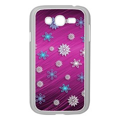 Snowflakes 3d Random Overlay Samsung Galaxy Grand Duos I9082 Case (white)