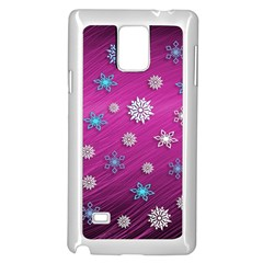 Snowflakes 3d Random Overlay Samsung Galaxy Note 4 Case (white)