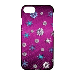 Snowflakes 3d Random Overlay Apple Iphone 8 Hardshell Case