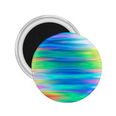 Wave Rainbow Bright Texture 2 25  Magnets