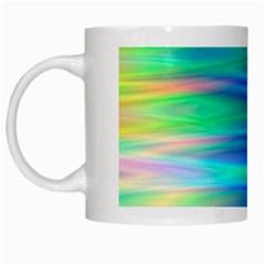 Wave Rainbow Bright Texture White Mugs