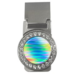 Wave Rainbow Bright Texture Money Clips (cz)