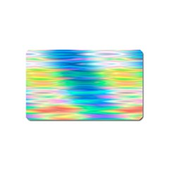 Wave Rainbow Bright Texture Magnet (name Card)