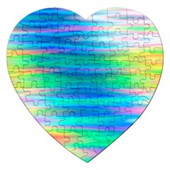 Wave Rainbow Bright Texture Jigsaw Puzzle (heart)