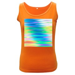 Wave Rainbow Bright Texture Women s Dark Tank Top