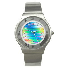 Wave Rainbow Bright Texture Stainless Steel Watch