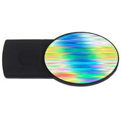 Wave Rainbow Bright Texture Usb Flash Drive Oval (4 Gb)