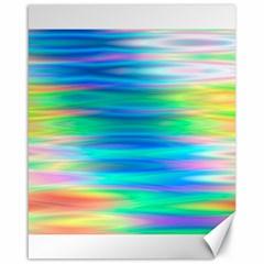 Wave Rainbow Bright Texture Canvas 16  X 20