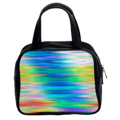 Wave Rainbow Bright Texture Classic Handbags (2 Sides)