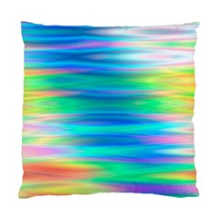 Wave Rainbow Bright Texture Standard Cushion Case (one Side)