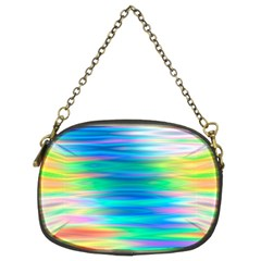 Wave Rainbow Bright Texture Chain Purses (two Sides)