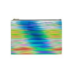 Wave Rainbow Bright Texture Cosmetic Bag (medium)