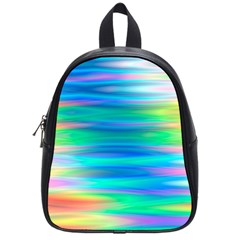 Wave Rainbow Bright Texture School Bag (small)