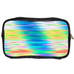 Wave Rainbow Bright Texture Toiletries Bags 2 Side