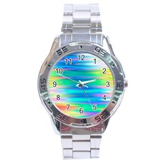 Wave Rainbow Bright Texture Stainless Steel Analogue Watch