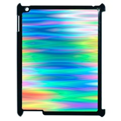 Wave Rainbow Bright Texture Apple Ipad 2 Case (black)