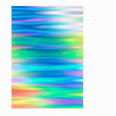 Wave Rainbow Bright Texture Large Garden Flag (two Sides)