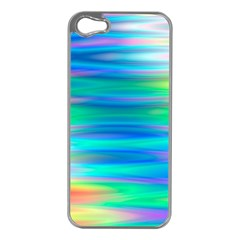Wave Rainbow Bright Texture Apple Iphone 5 Case (silver)
