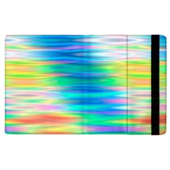 Wave Rainbow Bright Texture Apple Ipad 3/4 Flip Case