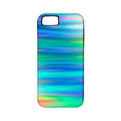 Wave Rainbow Bright Texture Apple Iphone 5 Classic Hardshell Case (pc+silicone)