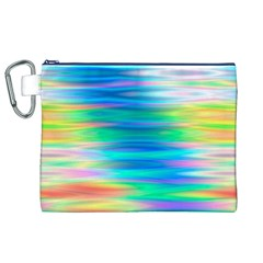 Wave Rainbow Bright Texture Canvas Cosmetic Bag (xl)