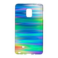 Wave Rainbow Bright Texture Galaxy Note Edge