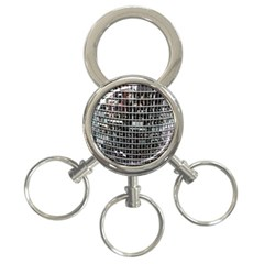 Skyscraper Glass Facade Offices 3 Ring Key Chains