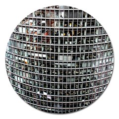Skyscraper Glass Facade Offices Magnet 5  (round)