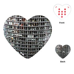 Skyscraper Glass Facade Offices Playing Cards (heart)