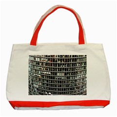 Skyscraper Glass Facade Offices Classic Tote Bag (red)